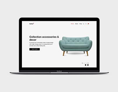 Website design for a furniture store