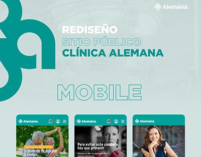 Rediseño sitio público clínica Alemana