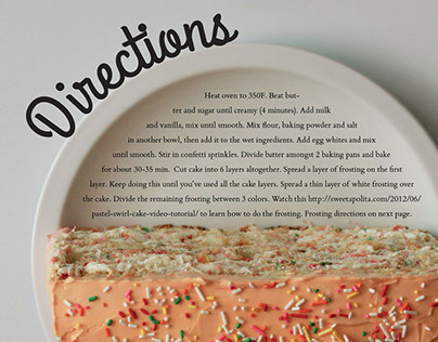 Pastel Funfetti Recipe Book