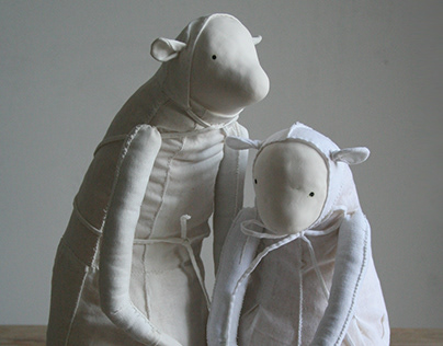 OOAK porcelain creatures Tallula and Ove