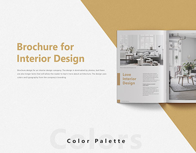 Brochure for Interior Design