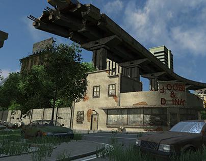 Level Design/Blockout - Post Apo City