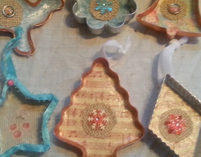 Vintage Cookie Cutter upcycled ornaments