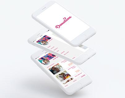 Donation App UI/UX design