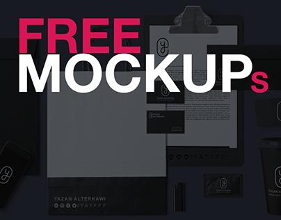 9 Free Mockups - Vol. 1