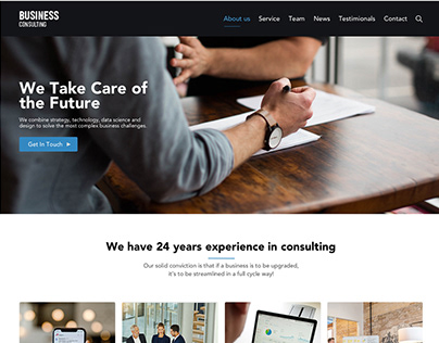 Business Consulting Company Website Design