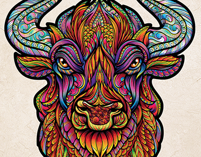 Bull. Illustration for puzzle