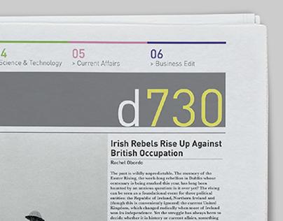 d730 Broadsheet Newspaper