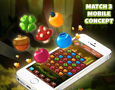 Game UI - Match 3 Mobile Concept