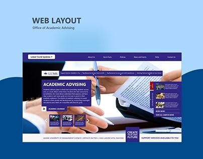 Website Design - Office of Academic Advising