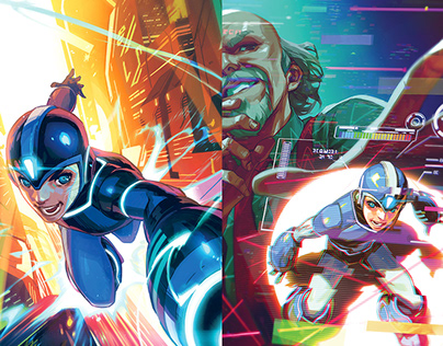 Mega Man: Fully Charged COVERS