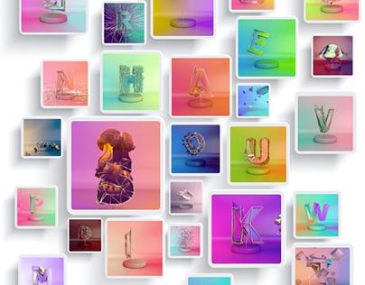 36 days of type - typography - Alicein3dland