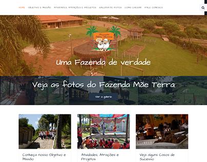 Site para o Hotel Fazenda Mãe Terra