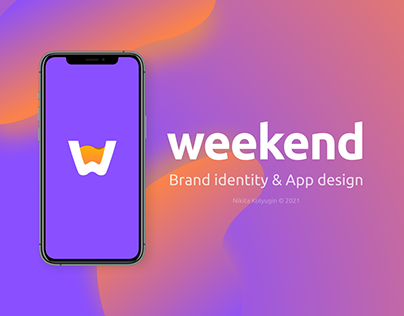WEEKEND brand identity & app design