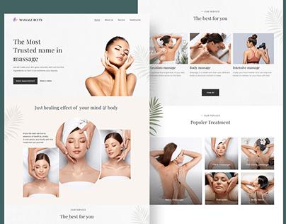 Massage/spa Landing page