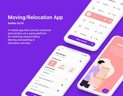 Moving/Relocation App UI/UX