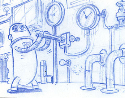 Nickelodeon Concept Artwork and Storyboard