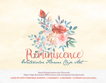 Transparent Watercolor Clipart - Reminiscence