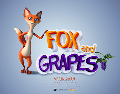 "CGI 3D Animated Short Film: ""Fox and grapes"""