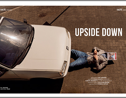 """Upside down"" Mens fashion Editorial IMUTE Magazine"