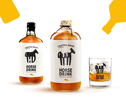 "Logo & lable for ""Horse"" Drink (The one for the road)"