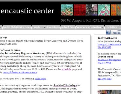 The Encaustic Center Website