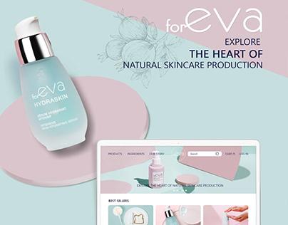 E-commerse cosmetics web-design