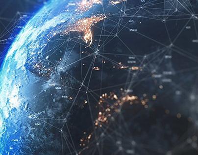 Cyber Technology Earth Globe