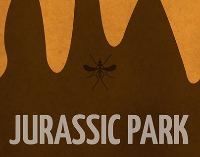 Minimalist poster - Jurassic Park (projeto acadêmico)