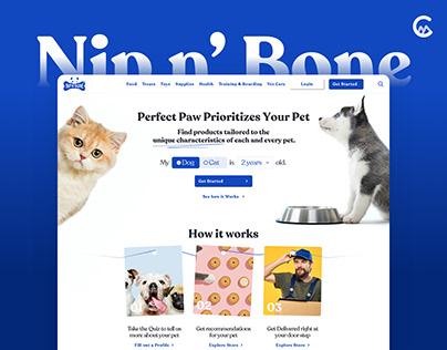 Nip N' Bone: Pet food delivery Landing Page