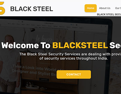 Black Steel Web page Design
