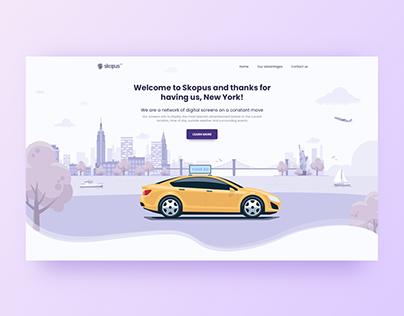 Digital screens - Landing page