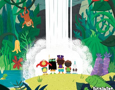 Galapagos Characters and Illustration Study