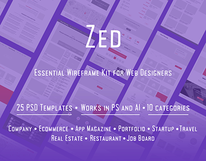 Zed – Essential Wireframe Kit for Web Designers