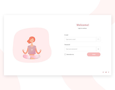 Login and Sign Up pages