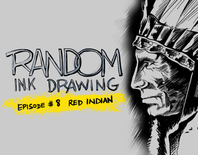 Red Indian | Random Ink Drawing #8