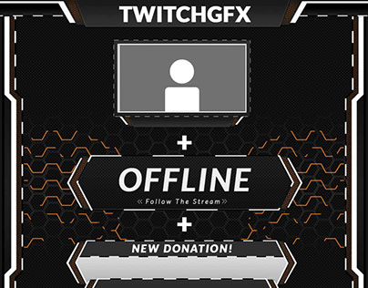 Twitch streaming graphics bundle