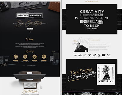 Creative Portfolio Website of Bradley Lancaster