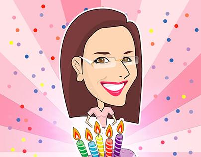 Cartoon for birthday party