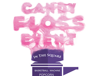 Candy Floss Event Poster