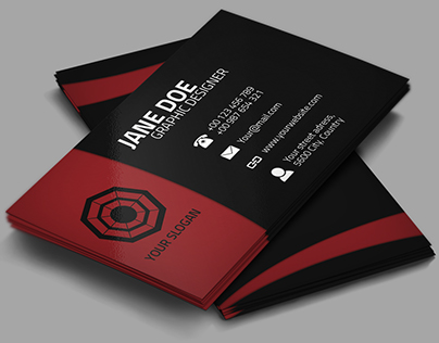 Red love Black - Creative Business Card