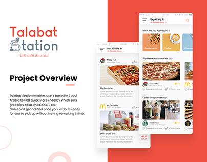 Talabat Station Mobile Application