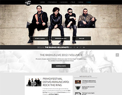 Music band's web project