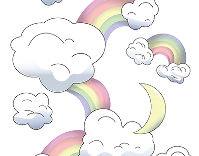 moonbow pattern.