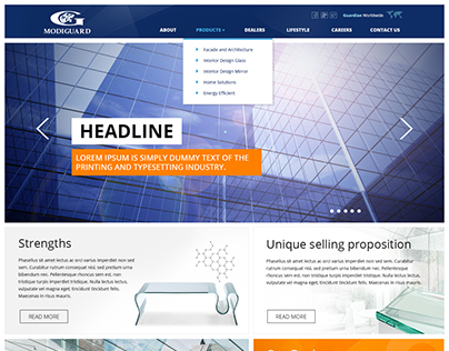 Modiguard website layouts options