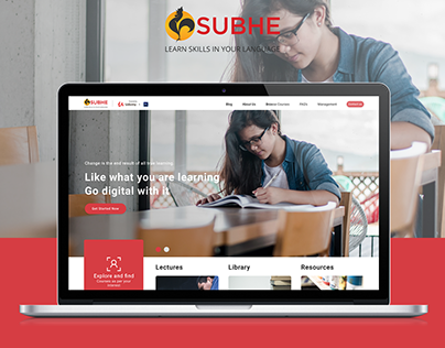 Subhe e-Learning Landing Page Design