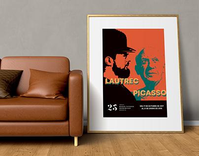 Cartel Picasso y Lautrec