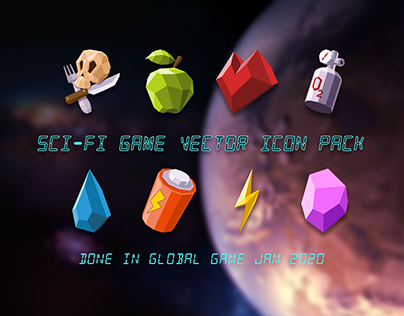 FREE Sci-Fi Game Vector Icon Pack