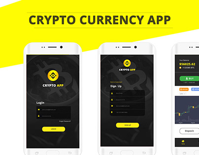 Crypto Currency - Mobile Application Interface