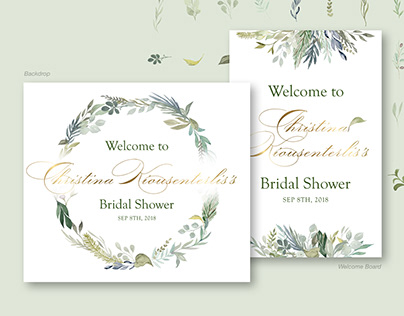 Bridal Shower Backdrop & Welcome Board
